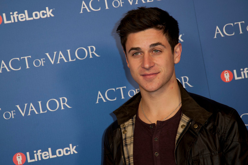 HOLLYWOOD, CA - FEBRUARY 13: Actor David Henrie arrives at the premiere of Relativity Media's 'Act Of Valor' held at ArcLight Cinemas on February 13, 2012 in Hollywood, California. Photo taken by Tom Sorensen/Moovieboy Pictures.