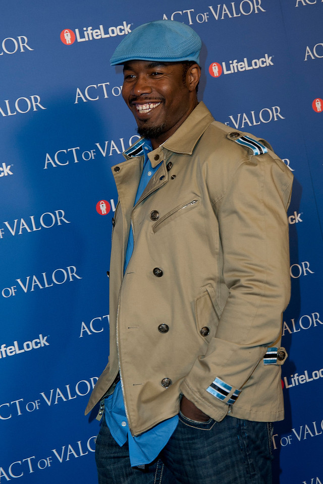 HOLLYWOOD, CA - FEBRUARY 13: Actor Michael Jai White arrives  at the premiere of Relativity Media's 'Act Of Valor' held at ArcLight Cinemas on February 13, 2012 in Hollywood, California. Photo taken by Tom Sorensen/Moovieboy Pictures.