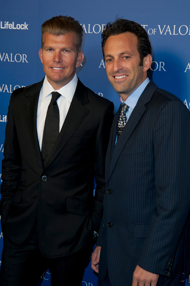 HOLLYWOOD, CA - FEBRUARY 13: Directors Mike 'Mouse' McCoy and Scott Waugh arrive at the premiere of Relativity Media's 'Act Of Valor' held at ArcLight Cinemas on February 13, 2012 in Hollywood, California. Photo taken by Tom Sorensen/Moovieboy Pictures.