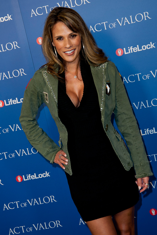HOLLYWOOD, CA - FEBRUARY 13: Actress Bonnie Jill Laflin arrives at the premiere of Relativity Media's 'Act Of Valor' held at ArcLight Cinemas on February 13, 2012 in Hollywood, California. Photo taken by Tom Sorensen/Moovieboy Pictures.