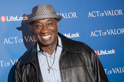 HOLLYWOOD, CA - FEBRUARY 13: Actor Michael Clarke Duncan arrives at the premiere of Relativity Media's 'Act Of Valor' held at ArcLight Cinemas on February 13, 2012 in Hollywood, California. Photo taken by Tom Sorensen/Moovieboy Pictures.