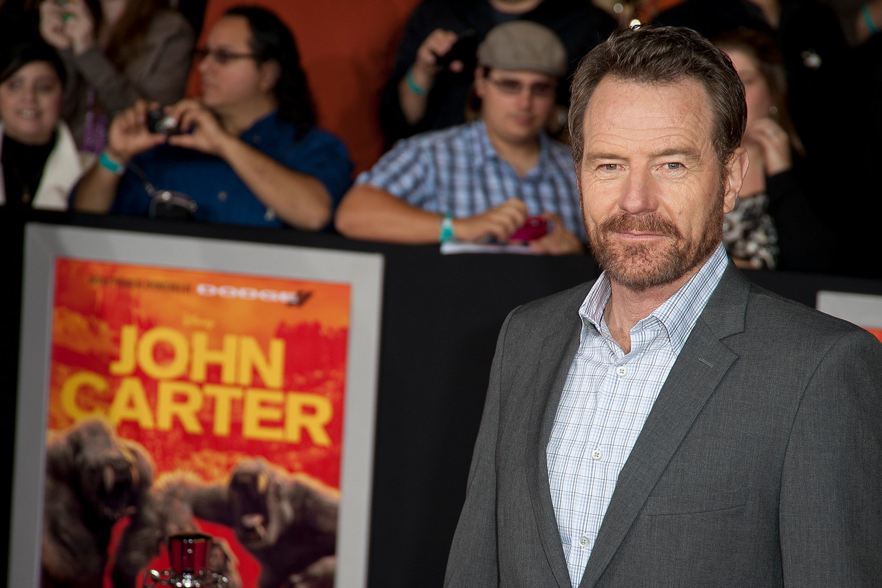 "LOS ANGELES, CA - FEBRUARY 22: Actor Bryan Cranston arrives at the world premiere of Disney's ""John Carter"" on Wednesday. February 22, 2012 at Regal Cinemas in downtown Los Angeles. Photo taken by Tom Sorensen/Moovieboy Pictures."