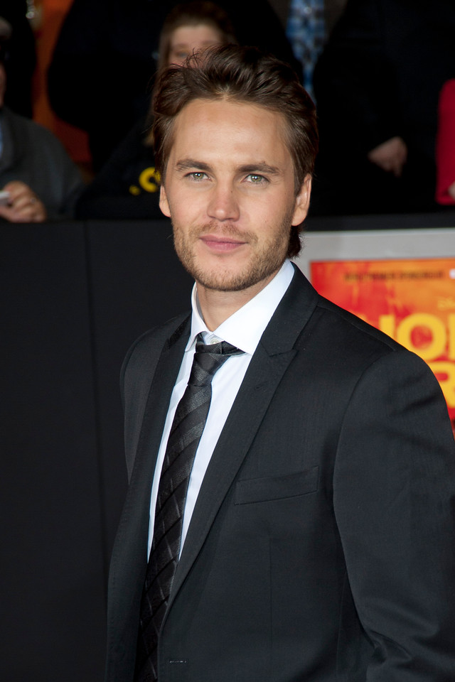 """LOS ANGELES, CA - FEBRUARY 22: Actor Taylor Kitsch arrives at the world premiere of Disney's """"John Carter"""" on Wednesday. February 22, 2012 at Regal Cinemas in downtown Los Angeles. Photo taken by Tom Sorensen/Moovieboy Pictures."""