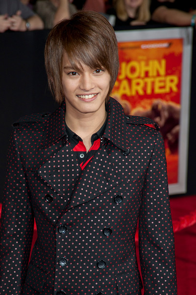 """LOS ANGELES, CA - FEBRUARY 22: Japanese actor Yuma Nakayama arrives at the world premiere of Disney's """"John Carter"""" on Wednesday. February 22, 2012 at Regal Cinemas in downtown Los Angeles. Photo taken by Tom Sorensen/Moovieboy Pictures."""