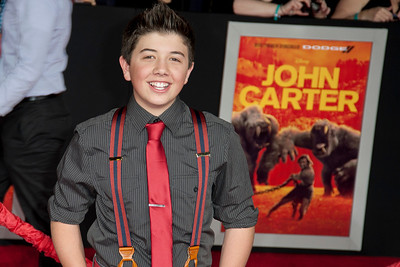 """LOS ANGELES, CA - FEBRUARY 22: Actor Bradley Steven Perry arrives at the world premiere of Disney's """"John Carter"""" on Wednesday. February 22, 2012 at Regal Cinemas in downtown Los Angeles. Photo taken by Tom Sorensen/Moovieboy Pictures."""