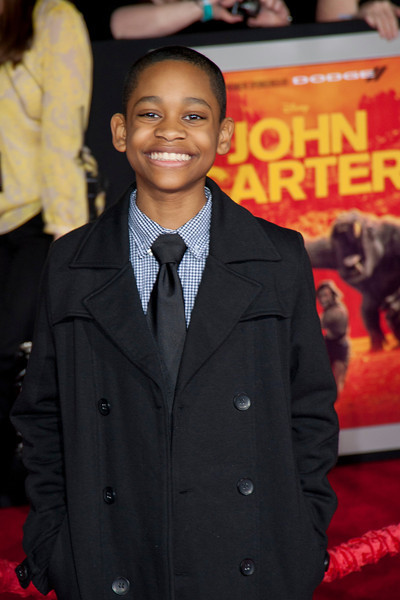 """LOS ANGELES, CA - FEBRUARY 22: Actor Tyrel Jackson Wiliams arrives at the world premiere of Disney's """"John Carter"""" on Wednesday. February 22, 2012 at Regal Cinemas in downtown Los Angeles. Photo taken by Tom Sorensen/Moovieboy Pictures."""
