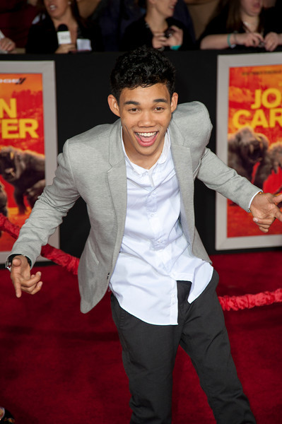 """LOS ANGELES, CA - FEBRUARY 22: Actor Roshon Fegan arrives at the world premiere of Disney's """"John Carter"""" on Wednesday. February 22, 2012 at Regal Cinemas in downtown Los Angeles. Photo taken by Tom Sorensen/Moovieboy Pictures."""