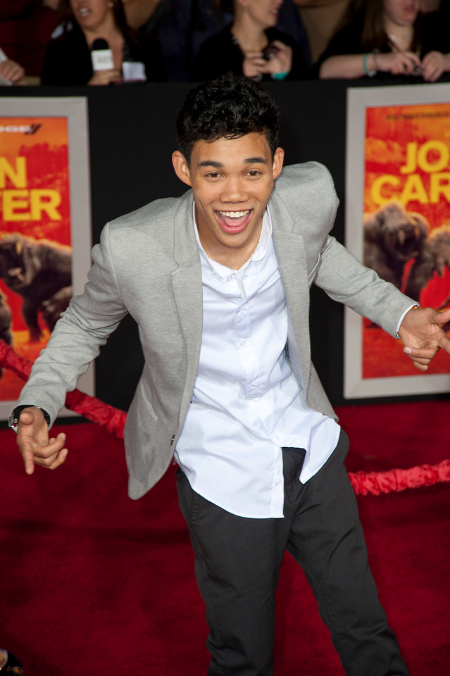 "LOS ANGELES, CA - FEBRUARY 22: Actor Roshon Fegan arrives at the world premiere of Disney's ""John Carter"" on Wednesday. February 22, 2012 at Regal Cinemas in downtown Los Angeles. Photo taken by Tom Sorensen/Moovieboy Pictures."