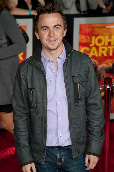 """LOS ANGELES, CA - FEBRUARY 22: Actor Frankie Muniz arrives arrives at the world premiere of Disney's """"John Carter"""" on Wednesday. February 22, 2012 at Regal Cinemas in downtown Los Angeles. Photo taken by Tom Sorensen/Moovieboy Pictures."""