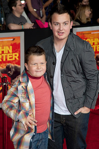 """LOS ANGELES, CA - FEBRUARY 22: Actors Noah Munck and Ethan Munck Foley arrive at the world premiere of Disney's """"John Carter"""" on Wednesday. February 22, 2012 at Regal Cinemas in downtown Los Angeles. Photo taken by Tom Sorensen/Moovieboy Pictures."""