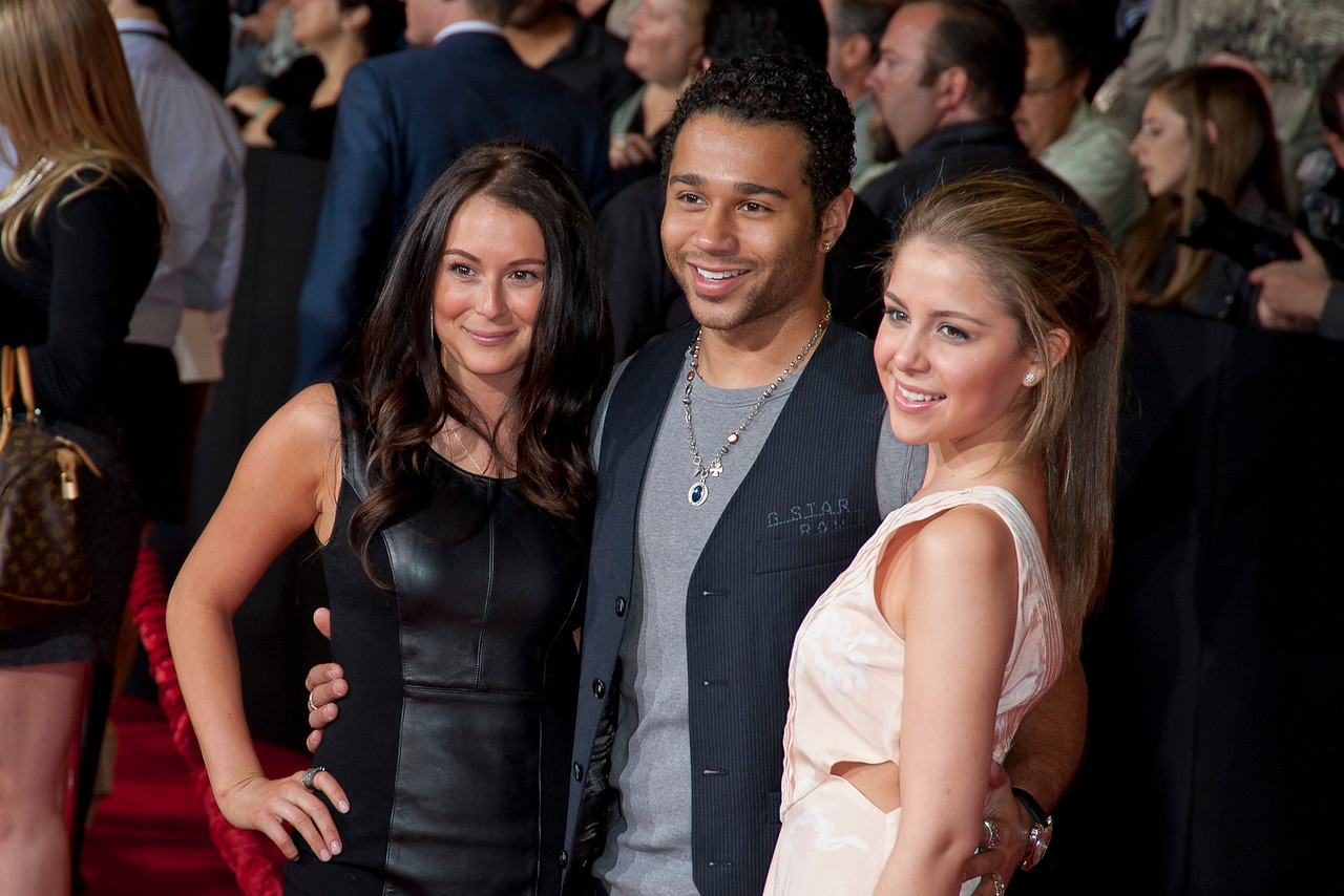 "LOS ANGELES, CA - FEBRUARY 22: Actors Alexa Vega (L), Corbin Bleu (C) and Makenzie Vega arrive at the world premiere of Disney's ""John Carter"" on Wednesday. February 22, 2012 at Regal Cinemas in downtown Los Angeles. Photo taken by Tom Sorensen/Moovieboy Pictures."