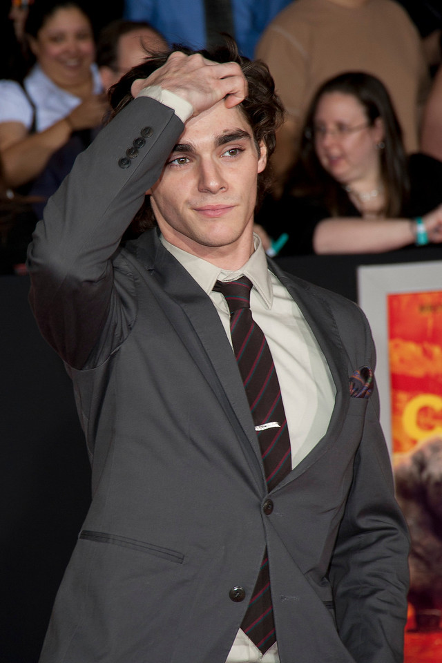 "LOS ANGELES, CA - FEBRUARY 22: Actor RJ Mitte arrives at the world premiere of Disney's ""John Carter"" on Wednesday. February 22, 2012 at Regal Cinemas in downtown Los Angeles. Photo taken by Tom Sorensen/Moovieboy Pictures."