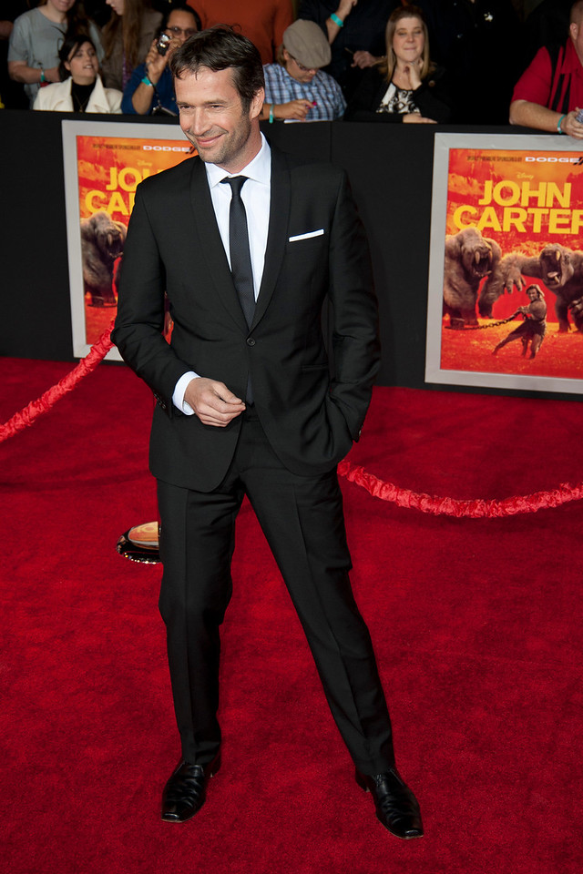 """LOS ANGELES, CA - FEBRUARY 22: Actor James Purefoy arrives at the world premiere of Disney's """"John Carter"""" on Wednesday. February 22, 2012 at Regal Cinemas in downtown Los Angeles. Photo taken by Tom Sorensen/Moovieboy Pictures."""