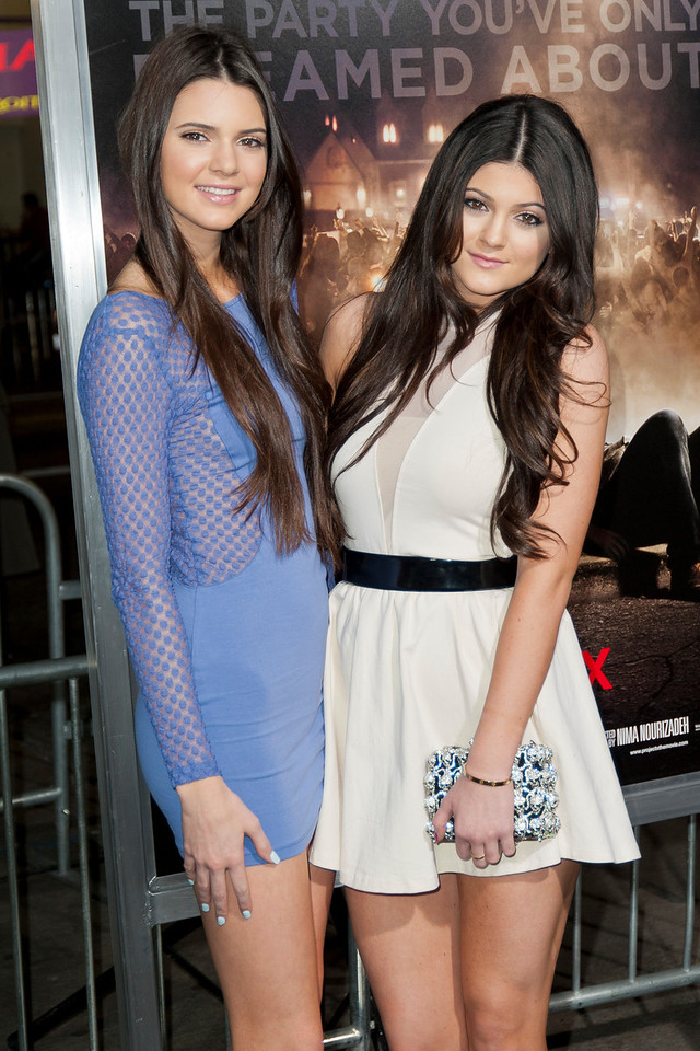 HOLLYWOOD, CA - FEBRUARY 29: TV personalities Kendall Jenner (L) and Kylie Jenner attend the 'Project X' Los Angeles premiere held at the Grauman's Chinese Theatre on Wednesday, February 29, 2012 in Hollywood, California. Photo taken by Tom Sorensen/Moovieboy Pictures.