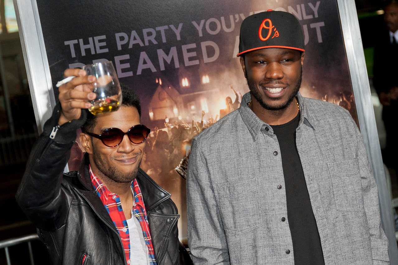 HOLLYWOOD, CA - FEBRUARY 29: Musicians Kid Cudi and Dot Da Genius attend the 'Project X' Los Angeles premiere held at the Grauman's Chinese Theatre on Wednesday, February 29, 2012 in Hollywood, California. Photo taken by Tom Sorensen/Moovieboy Pictures.