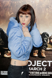 HOLLYWOOD, CA - FEBRUARY 29: Natassia Gail Zolot AKA Kreayshawn attends the 'Project X' Los Angeles premiere held at the Grauman's Chinese Theatre on Wednesday, February 29, 2012 in Hollywood, California. Photo taken by Tom Sorensen/Moovieboy Pictures.