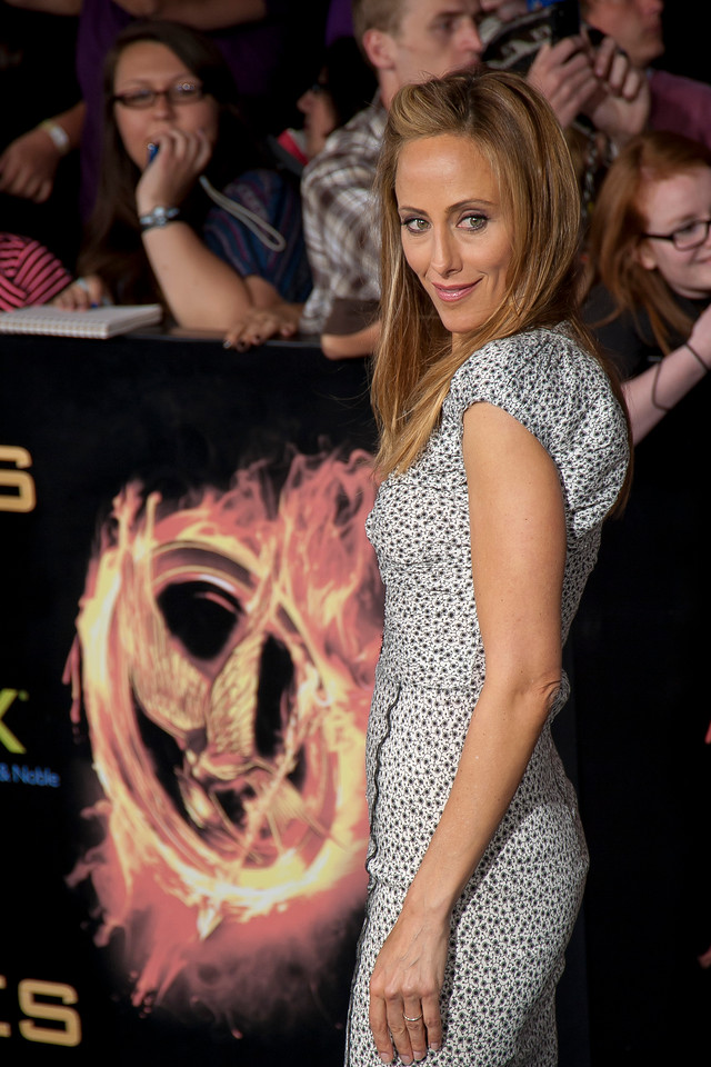 LOS ANGELES, CA - MARCH 12: Actress Kim Raver arrives at the premiere of Lionsgate's 'The Hunger Games' at Nokia Theatre L.A. Live on Monday, March 12, 2012 in Los Angeles, California. Photo taken by Tom Sorensen/Moovieboy Pictures.