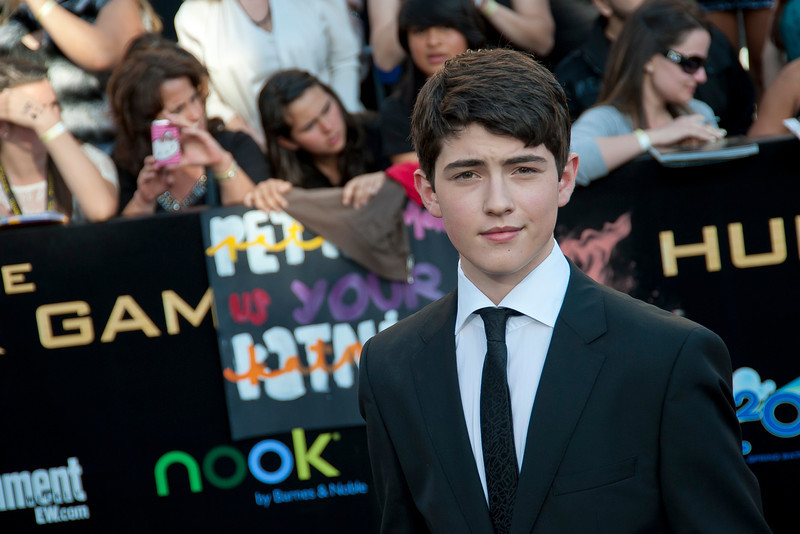 LOS ANGELES, CA - MARCH 12: Actor Ian Nelson arrives at the premiere of Lionsgate's 'The Hunger Games' at Nokia Theatre L.A. Live on Monday, March 12, 2012 in Los Angeles, California. Photo taken by Tom Sorensen/Moovieboy Pictures.