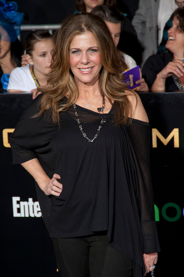 LOS ANGELES, CA - MARCH 12: Actress Rita Wilson arrives at the premiere of Lionsgate's 'The Hunger Games' at Nokia Theatre L.A. Live on Monday, March 12, 2012 in Los Angeles, California. Photo taken by Tom Sorensen/Moovieboy Pictures.