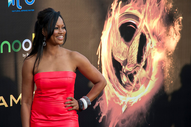 LOS ANGELES, CA - MARCH 12: Actress Garcelle Beauvais arrives at the premiere of Lionsgate's 'The Hunger Games' at Nokia Theatre L.A. Live on Monday, March 12, 2012 in Los Angeles, California. Photo taken by Tom Sorensen/Moovieboy Pictures.