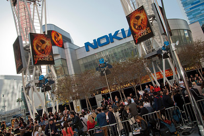 LOS ANGELES, CA - MARCH 12: Atmosphere at the premiere of Lionsgate's 'The Hunger Games' at Nokia Theatre L.A. Live on Monday, March 12, 2012 in Los Angeles, California. Photo taken by Tom Sorensen/Moovieboy Pictures.