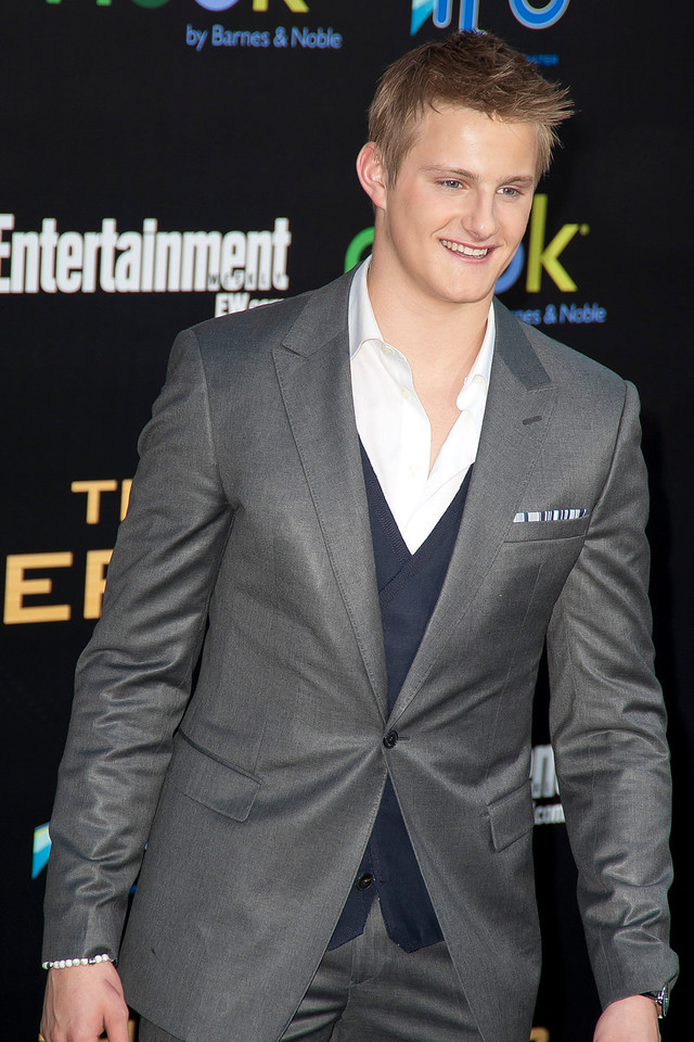LOS ANGELES, CA - MARCH 12: Actor Alexander Ludwig Arrives at the premiere of Lionsgate's 'The Hunger Games' at Nokia Theatre L.A. Live on Monday, March 12, 2012 in Los Angeles, California. Photo taken by Tom Sorensen/Moovieboy Pictures.