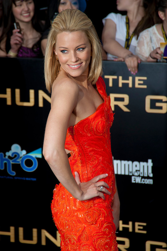 LOS ANGELES, CA - MARCH 12: Actress Elizabeth Banks arrives at the premiere of Lionsgate's 'The Hunger Games' at Nokia Theatre L.A. Live on Monday, March 12, 2012 in Los Angeles, California. Photo taken by Tom Sorensen/Moovieboy Pictures.