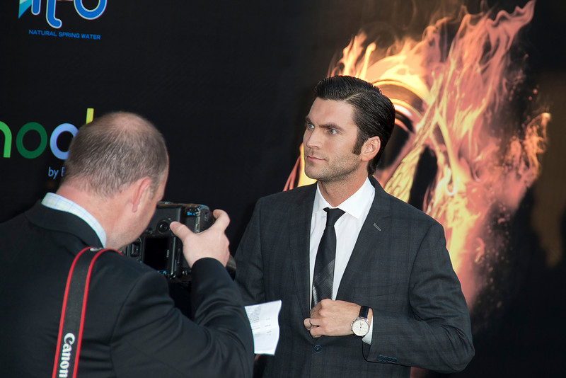 LOS ANGELES, CA - MARCH 12: Actor Wes Bentley arrives at the premiere of Lionsgate's 'The Hunger Games' at Nokia Theatre L.A. Live on Monday, March 12, 2012 in Los Angeles, California. Photo taken by Tom Sorensen/Moovieboy Pictures.