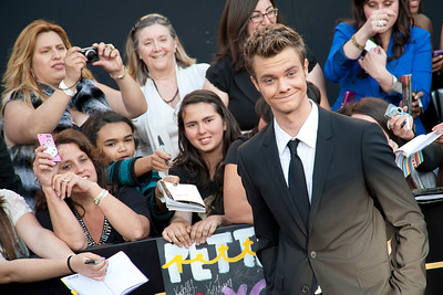 LOS ANGELES, CA - MARCH 12: Actor Jack Quaid arrives at the premiere of Lionsgate's 'The Hunger Games' at Nokia Theatre L.A. Live on Monday, March 12, 2012 in Los Angeles, California. Photo taken by Tom Sorensen/Moovieboy Pictures.