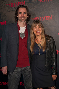 LOS ANGELES, CA - APRIL 23: Director Catherine Hardwicke (L) and Richard Kidd arrive at the Los Angeles premiere of Relativity Media's 'The Raven' held at the Los Angeles Theatre on April 23, 2012 in Los Angeles, California. Photo taken by Tom Sorensen/Moovieboy Pictures.
