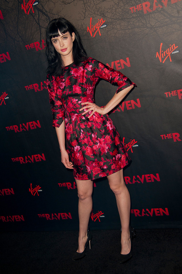 LOS ANGELES, CA - APRIL 23: Actress Krysten Ritter arrives at the Los Angeles premiere of Relativity Media's 'The Raven' held at the Los Angeles Theatre on April 23, 2012 in Los Angeles, California. Photo taken by Tom Sorensen/Moovieboy Pictures.