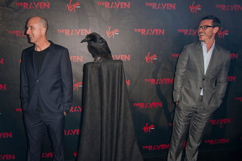 LOS ANGELES, CA - APRIL 23: Director James McTeigue and Luke Evans arrive at the Los Angeles premiere of Relativity Media's 'The Raven' held at the Los Angeles Theatre on April 23, 2012 in Los Angeles, California. Photo taken by Tom Sorensen/Moovieboy Pictures.