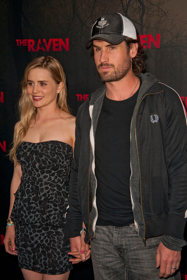 LOS ANGELES, CA - APRIL 23: Actress Alison Lohman and husband Mark Neveldine arrive at the Los Angeles premiere of Relativity Media's 'The Raven' held at the Los Angeles Theatre on April 23, 2012 in Los Angeles, California. Photo taken by Tom Sorensen/Moovieboy Pictures.
