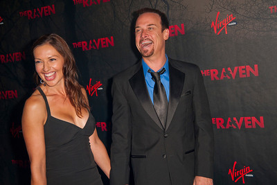LOS ANGELES, CA - APRIL 23: Actor Collin Cunningham (R) and guest arrive at the Los Angeles premiere of Relativity Media's 'The Raven' held at the Los Angeles Theatre on April 23, 2012 in Los Angeles, California. Photo taken by Tom Sorensen/Moovieboy Pictures.