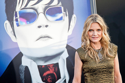 HOLLYWOOD, CA - MAY 07: Actress Michelle Pfeiffer arrives at the Los Angeles premiere of 'Dark Shadows' held at Grauman's Chinese Theatre on May 7, 2012 in Hollywood, California. (Photo by Tom Sorensen/Moovieboy Pictures)