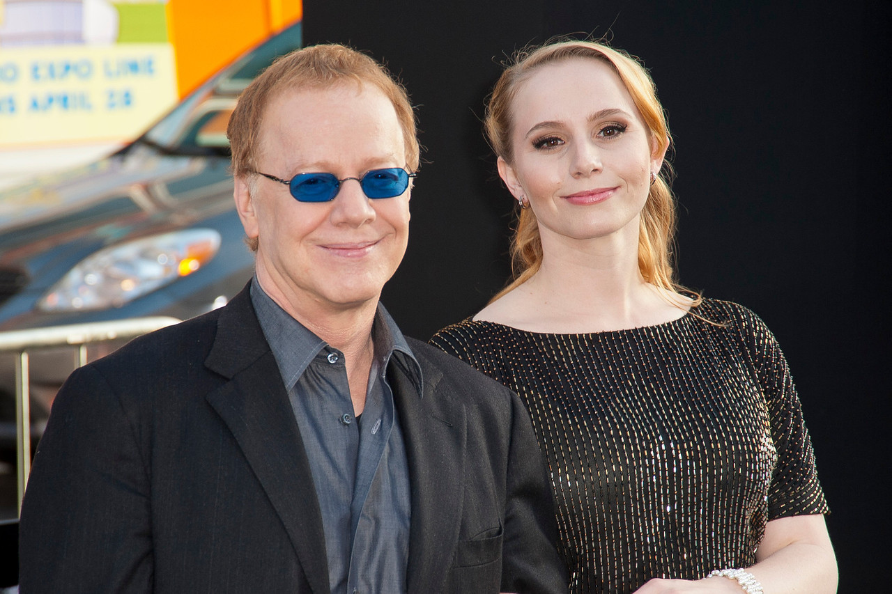 HOLLYWOOD, CA - MAY 07: Composer Danny Elfman and daughter Mali Elfman arrive at the Los Angeles premiere of 'Dark Shadows' held at Grauman's Chinese Theatre on May 7, 2012 in Hollywood, California. (Photo by Tom Sorensen/Moovieboy Pictures)