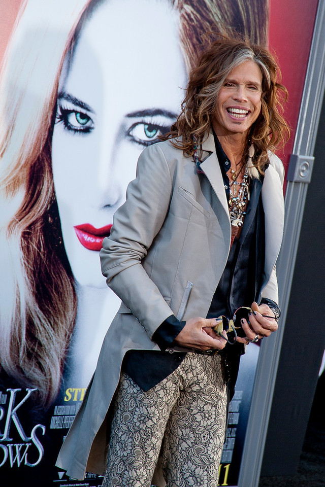 HOLLYWOOD, CA - MAY 07: Musician Steven Tyler arrives at the Los Angeles premiere of 'Dark Shadows' held at Grauman's Chinese Theatre on May 7, 2012 in Hollywood, California. (Photo by Tom Sorensen/Moovieboy Pictures)