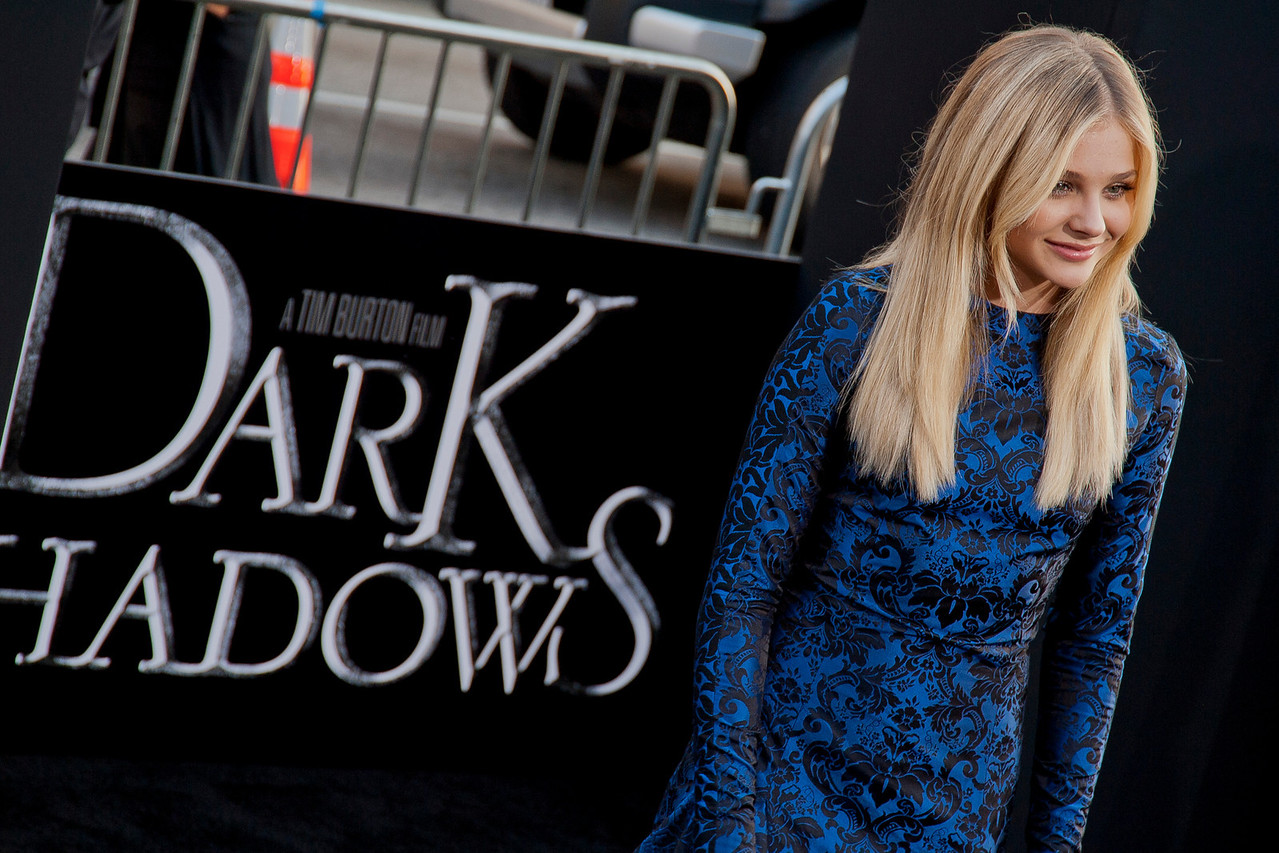 HOLLYWOOD, CA - MAY 07: Actress Chloe Grace Moretz arrives at the Los Angeles premiere of 'Dark Shadows' held at Grauman's Chinese Theatre on May 7, 2012 in Hollywood, California. (Photo by Tom Sorensen/Moovieboy Pictures)
