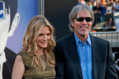 HOLLYWOOD, CA - MAY 07: Actress Michelle Pfeiffer and husband producer David E. Kelley arrive at the Los Angeles premiere of 'Dark Shadows' held at Grauman's Chinese Theatre on May 7, 2012 in Hollywood, California. (Photo by Tom Sorensen/Moovieboy Pictures)
