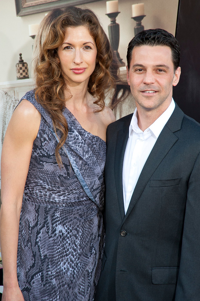 HOLLYWOOD, CA - MAY 14: Actors Alysia Reiner and David Alan Basche arrive at the Lionsgate Premiere of 'What To Expect When You're Expecting' at Grauman's Chinese Theatre on May 14, 2012 in Hollywood, California. (Photo by Tom Sorensen/Moovieboy Pictures)
