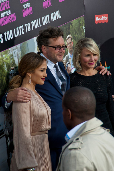 HOLLYWOOD, CA - MAY 14: Actress Jennifer Lopez, director Kirk Jones and actress Cameron Diaz arrive at the Lionsgate Premiere of 'What To Expect When You're Expecting' at Grauman's Chinese Theatre on May 14, 2012 in Hollywood, California. (Photo by Tom Sorensen/Moovieboy Pictures)