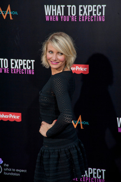 HOLLYWOOD, CA - MAY 14: Actress Cameron Diaz arrives at the Lionsgate Premiere of 'What To Expect When You're Expecting' at Grauman's Chinese Theatre on May 14, 2012 in Hollywood, California. (Photo by Tom Sorensen/Moovieboy Pictures)