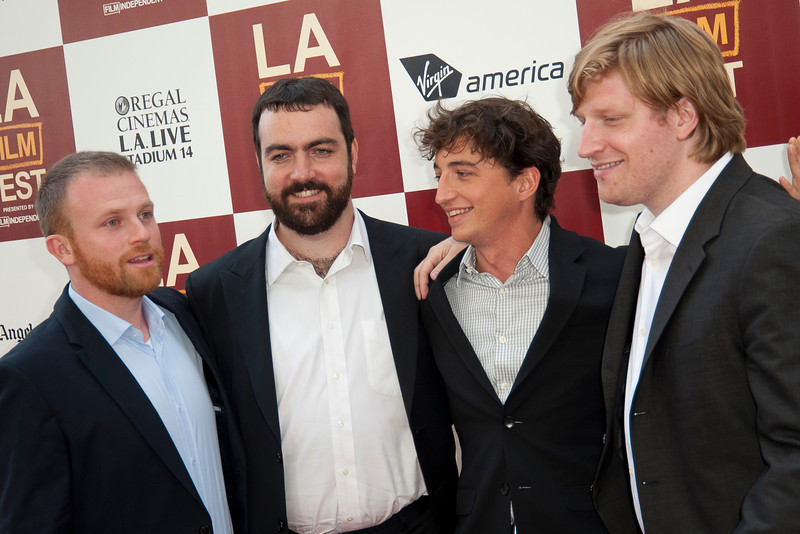 LOS ANGELES, CA: Producers Michael Gottwald,  Josh Penn, writer/director Benh Zeitlin and Dan Janvey arrive at the 2012 Los Angeles Film  at the 2012 Los Angeles Film Festival Gala Screening of 'Beasts Of The Southern Wild' at Regal Cinemas L.A. LIVE Stadium 14 on June 15, 2012 in Los Angeles, California. (Photo by Tom Sorensen/Moovieboy Pictures)