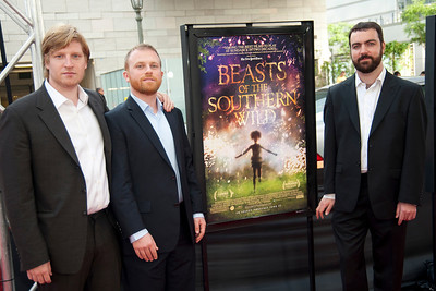 LOS ANGELES, CA: Producer Dan Janvey, executive Producer Michael Raisle and producer Josh Penn arrive at the 2012 Los Angeles Film Festival Gala Screening of 'Beasts Of The Southern Wild' at Regal Cinemas L.A. LIVE Stadium 14 on June 15, 2012 in Los Angeles, California. (Photo by Tom Sorensen/Moovieboy Pictures)