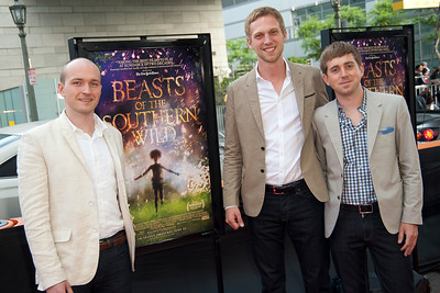 LOS ANGELES, CA: Executive Producer Michael Raisler, executive producer Philipp Engelborn and director Cameron Yates arrive at the 2012 Los Angeles Film Festival Gala Screening of 'Beasts Of The Southern Wild' at Regal Cinemas L.A. LIVE Stadium 14 on June 15, 2012 in Los Angeles, California. (Photo by Tom Sorensen/Moovieboy Pictures)