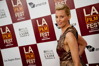 LOS ANGELES, CA: Actress Elizabeth Banks arrives at the 2012 Los Angeles Film Festival premiere of 'People Like Us' at Regal Cinemas L.A. LIVE Stadium 14 on June 15, 2012 in Los Angeles, California. (Photo by Tom Sorensen/Moovieboy Pictures)