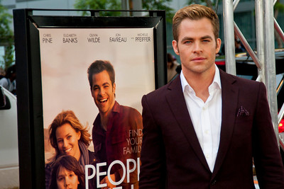 LOS ANGELES, CA: Actor Chris Pine arrives at the 2012 Los Angeles Film Festival premiere of 'People Like Us' at Regal Cinemas L.A. LIVE Stadium 14 on June 15, 2012 in Los Angeles, California. (Photo by Tom Sorensen/Moovieboy Pictures)