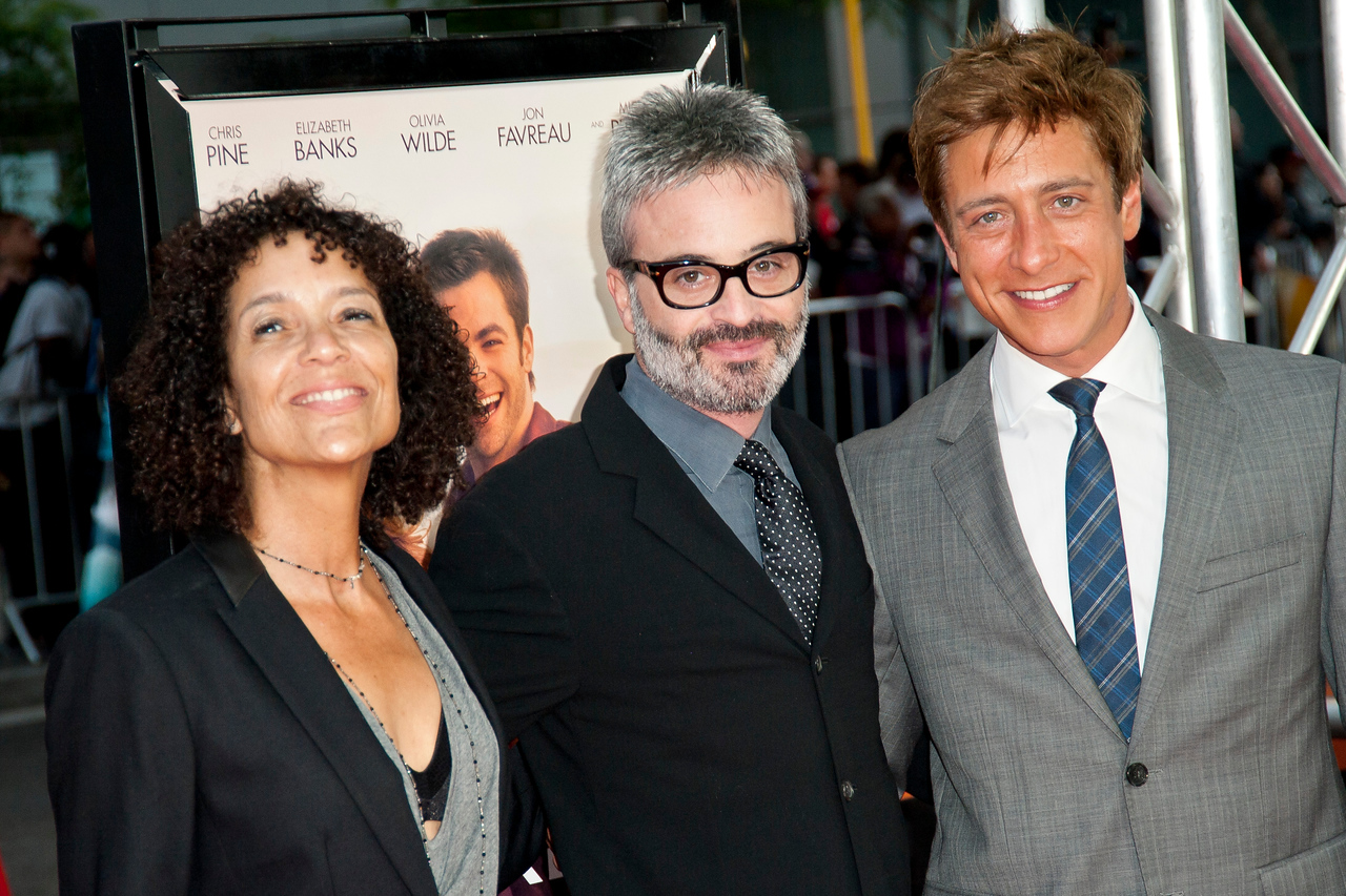 LOS ANGELES, CA: Director, Los Angeles Film Festival, Stephanie Allain, director Alex Kurtzman and Co-President of Film Independent Sean McManus arrive at the 2012 Los Angeles Film Festival premiere of 'People Like Us' at Regal Cinemas L.A. LIVE Stadium 14 on June 15, 2012 in Los Angeles, California. (Photo by Tom Sorensen/Moovieboy Pictures)