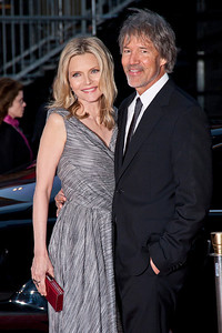 LOS ANGELES, CA: Actress Michelle Pfeiffer and David E. Kelley arrive at the 2012 Los Angeles Film Festival premiere of 'People Like Us' at Regal Cinemas L.A. LIVE Stadium 14 on June 15, 2012 in Los Angeles, California. (Photo by Tom Sorensen/Moovieboy Pictures)
