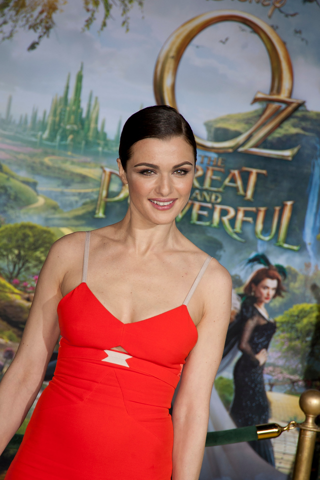 HOLLYWOOD; CA - FEBRUARY 13: Actress Rachel Weisz arrives at the world premiere of Walt Disney Pictures' 'Oz The Great And Powerful' at the El Capitan Theatre on Wednesday February 13; 2013 in Hollywood; California. (Photo by Tom Sorensen/Moovieboy Pictures)